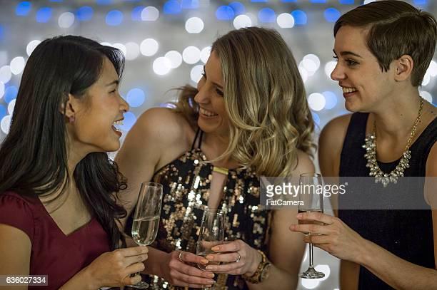 Girlfriends Celebrating Together