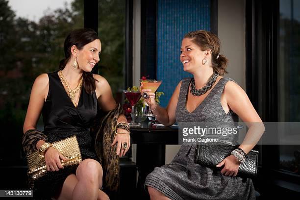 Girlfriends having cocktails.
