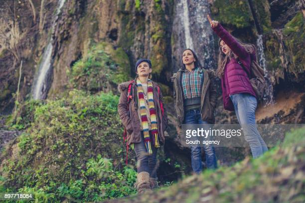 Girlfriends hiking