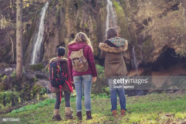Girlfriends love nature