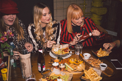 Girlfriends on a Night Out - gettyimageskorea