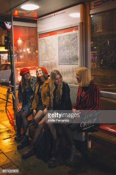girlfriends on a night out - only young women stock pictures, royalty-free photos & images
