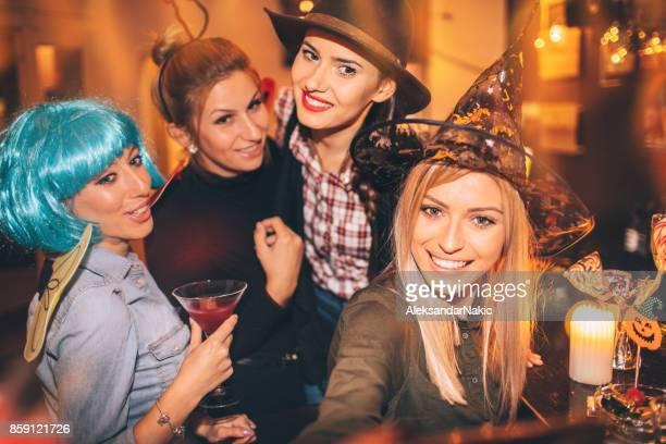 Girlfriends on Halloween party