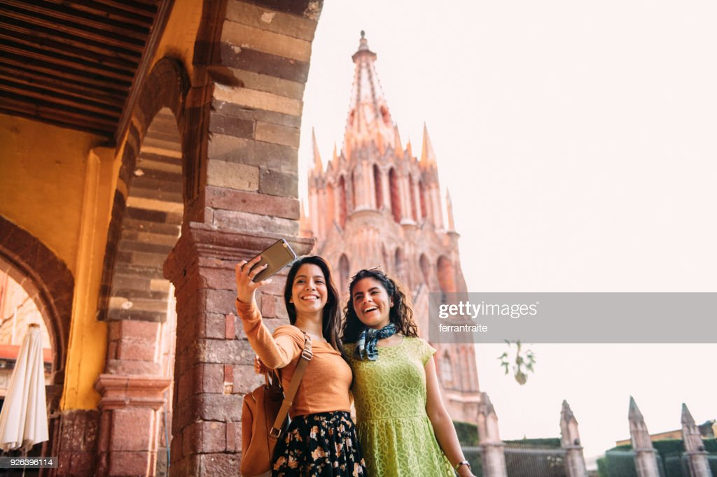 Girlfriends Traveling Mexico : Stock Photo