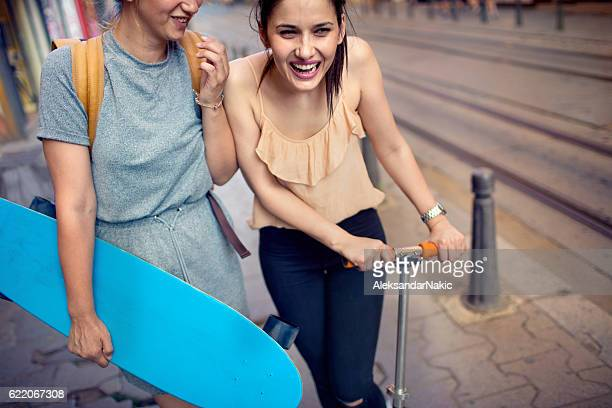 Girlfriends with boards