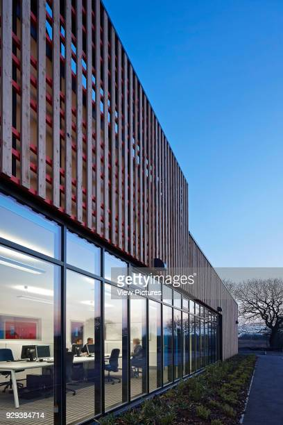 Girlguiding North West Headqwaters Preston United Kingdom Architect Walker Simpson Architects 2013 Facade perspective at dusk