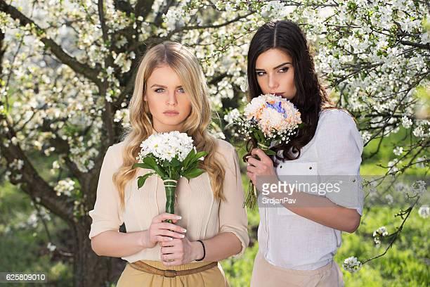 girlhood - beautiful czech women stock photos and pictures