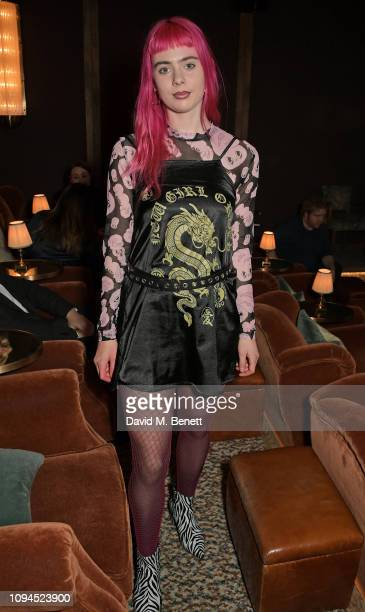 Girli attends a private screening of Rain Stops Play a new short film directed by Mika Simmons in support of Lady Garden on February 6 2019 in London...