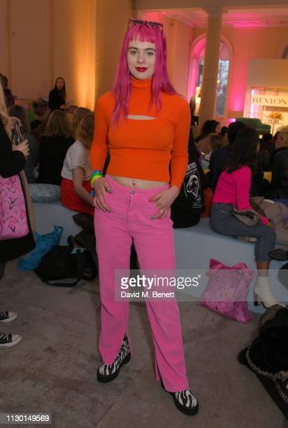 Girli attends the launch celebration of Adwoa Aboah's new Revlon x Gurls Talk limited edition make up kits at Somerset House on February 16 2019 in...
