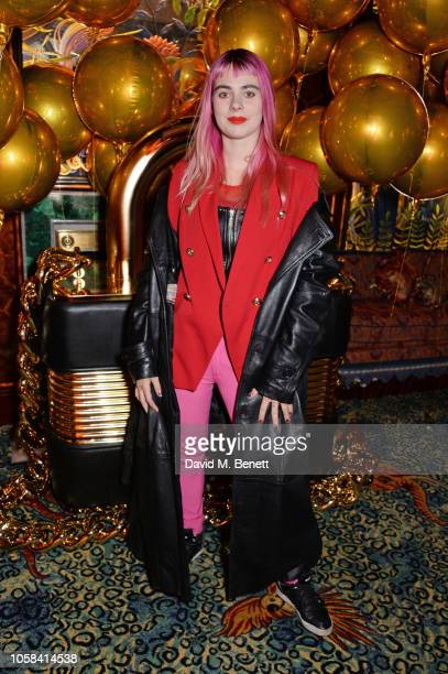 Girli attends the Moschino [TV] HM London Launch Party hosted by Jeremy Scott at Annabels on November 6 2018 in London England
