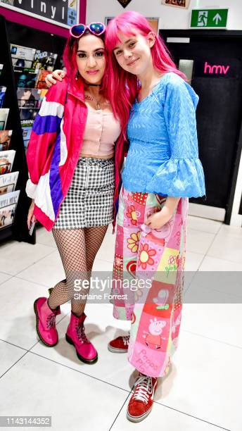 Girli meets fans and signs copies of her debut album 'Odd One Out' during an instore event at HMV Manchester on April 16 2019 in Manchester England