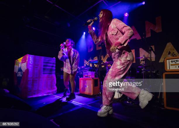 Girli or Milly Toomey performs with DJ Kittty as support to Declan McKenna at Gorilla on May 17 2017 in Manchester England