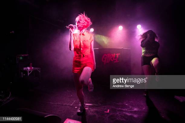 Girli performs on stage at The Wardrobe on April 22, 2019 in Leeds, England.