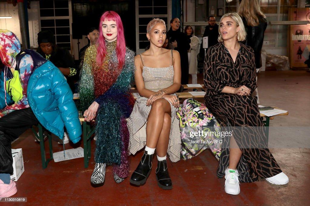 Fashion East - Front Row - LFW February 2019 : News Photo