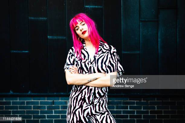 Girli poses outside The Wardrobe on April 22, 2019 in Leeds, England.