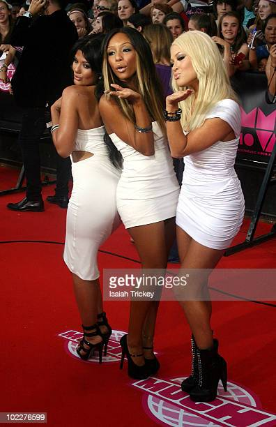 Girlicious arrive at the 21st Annual MuchMusic Video Awardson June 20 2010 in Toronto Canada