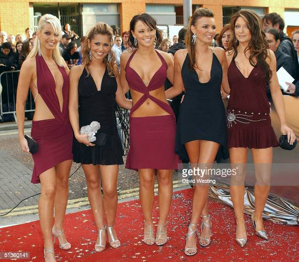 Girls Aloud arrive at the Celebrity Awards at London Television Centre on September 26 2004 in London The ceremony honours the year's most popular...