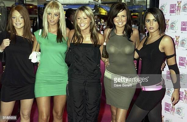"Girls Aloud attend the UK Premiere for ""Legally Blonde 2"" at Warner Village, West End on July 24, 2003 in London."