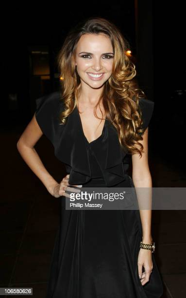 Girls Aloud band member Nadine Coyle visits 'The Late Late Show' at RTE Studios on November 5 2010 in Dublin Ireland