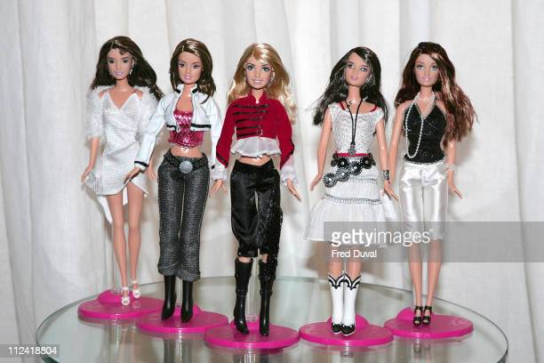 Girls Aloud Barbie Dolls during Girls Aloud Design the New Collection for Barbie at No 5 Cavendish Square in London Great Britain