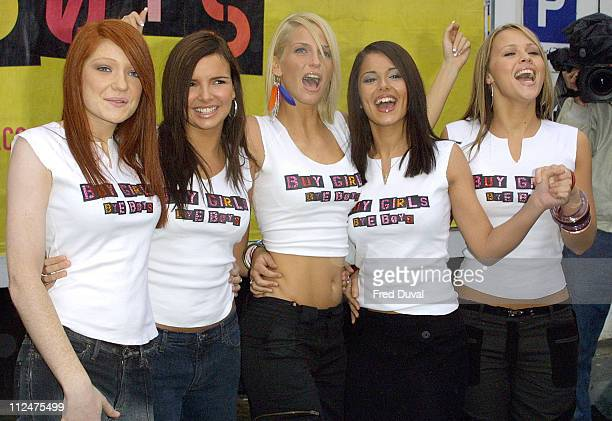 Girls Aloud during Poprivals Photocall at Goswell Road in London Great Britain