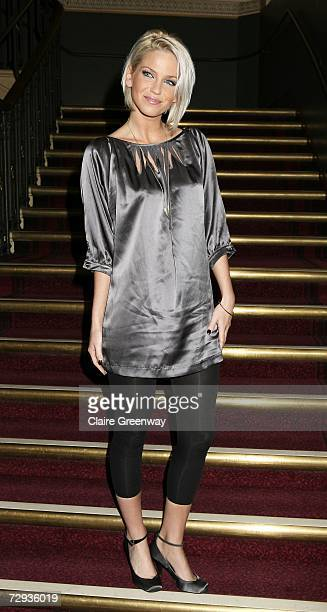 Girls Aloud member Sarah Harding arrives at the VIP performance of Cirque Du Soleil's 'Alegria' at Royal Albert Hall on January 5 2007 in London...