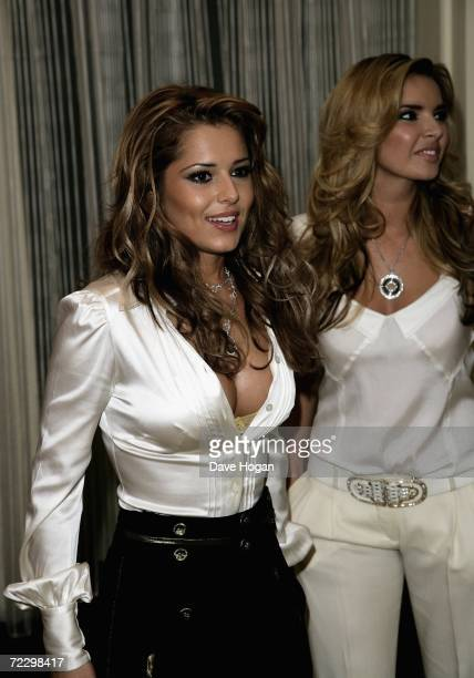 Girls Aloud members Cheryl Tweedy and Nadine Coyle arrive at the Q Awards 2006 at Grosvenor House Hotel on October 30 2006 in London England