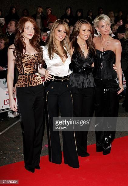Girls Aloud members Nicola Roberts Cheryl Cole Kimberley Walsh and Sarah Harding arrive at the Daily Mirror's Pride Of Britain Awards at ITV Centre...