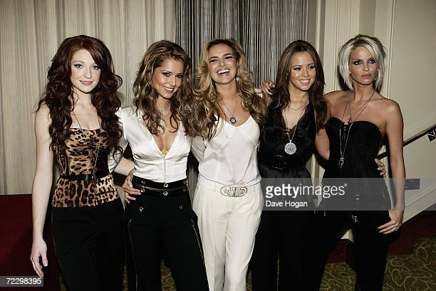 Girls Aloud members Nicola Roberts Cheryl Tweedy Nadine Coyle Kimberley Walsh and Sarah Harding arrive at the Q Awards 2006 at Grosvenor House Hotel...