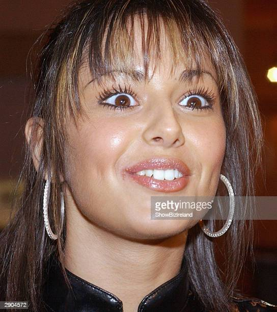 Girls Aloud singer Cheryl Tweedy attends Samantha Mumba's 21st Birthday Party on January 26 2004 at The Four Seasons Hotel in Dublin Ireland