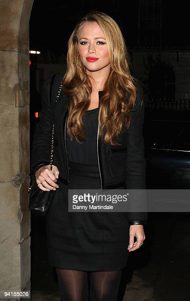 Girls Aloud singer Kimberley Walsh attends the Breast Cancer Haven Christmas Carol Service on December 8 2009 in London England