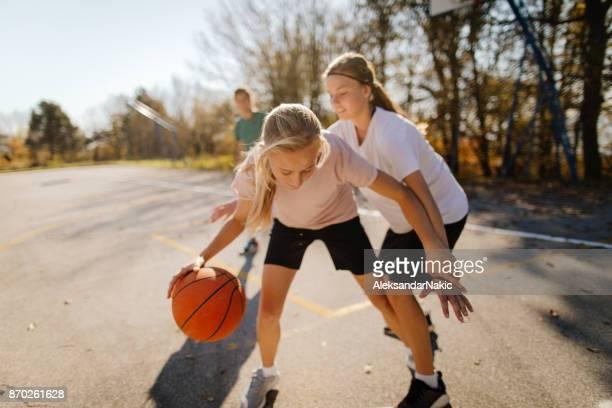 Girls and basketball