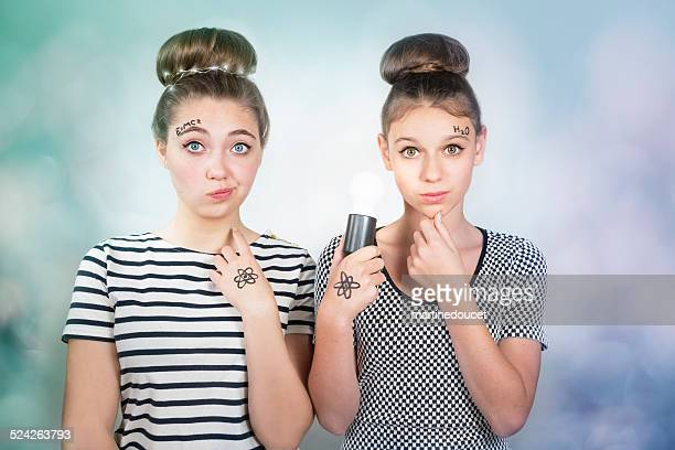 """girls and science, more teenagers should embrace scientific career. - """"martine doucet"""" or martinedoucet stock pictures, royalty-free photos & images"""