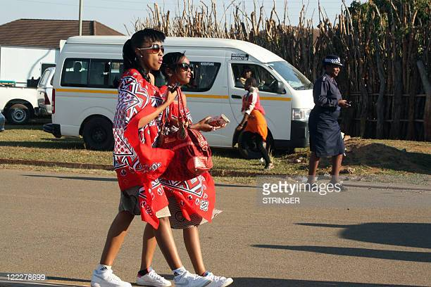 STORY Girls and women from all social strata attend the traditional Umhlanga ceremony known as the annual Reed Dance on August 24 2011 in Mbabane The...
