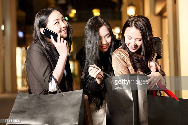 Girls anxious about the gift and expressing joy
