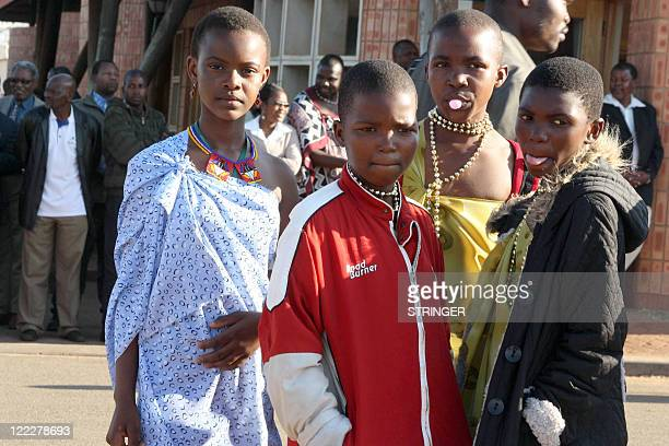 STORY Girls as young as ten or eleven attend the traditional Umhlanga ceremony on August 24 2011 in Mbabane The high point in the country's social...