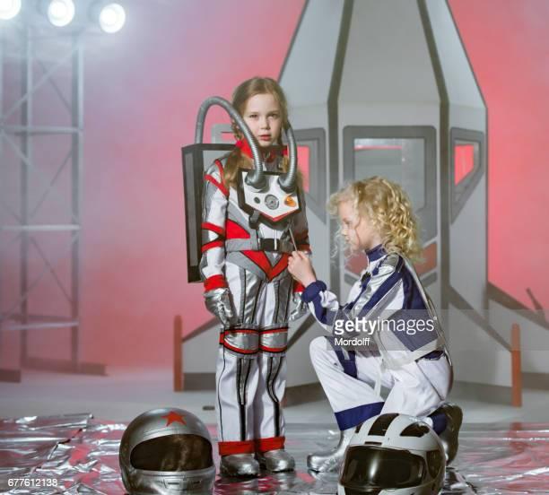 Girls Astronauts. We Ready For Flight