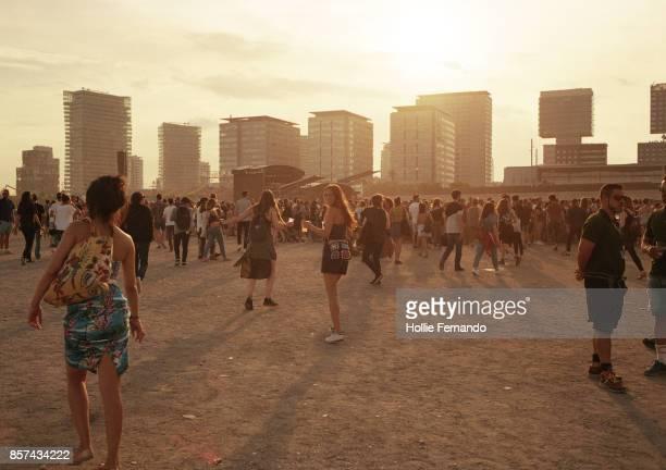 girls at a festival - festival musicale foto e immagini stock