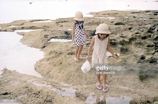 Girls at beach side