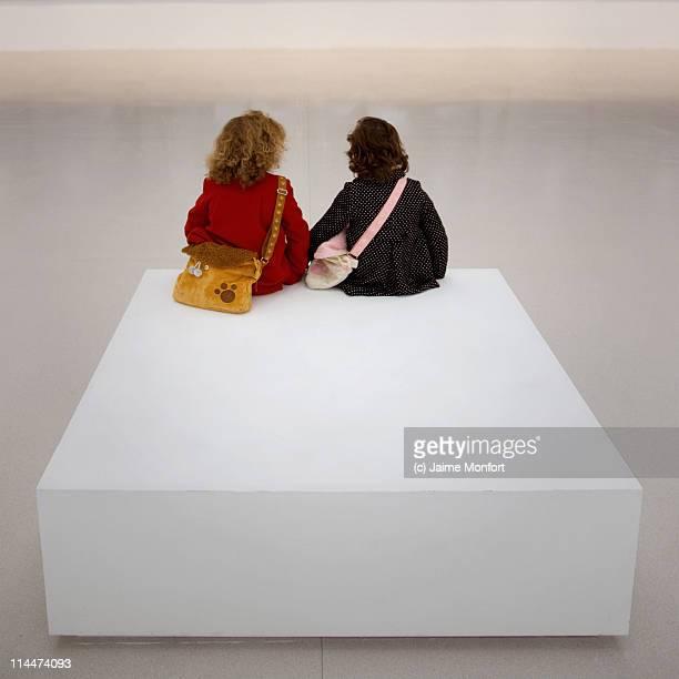 Girls at museum