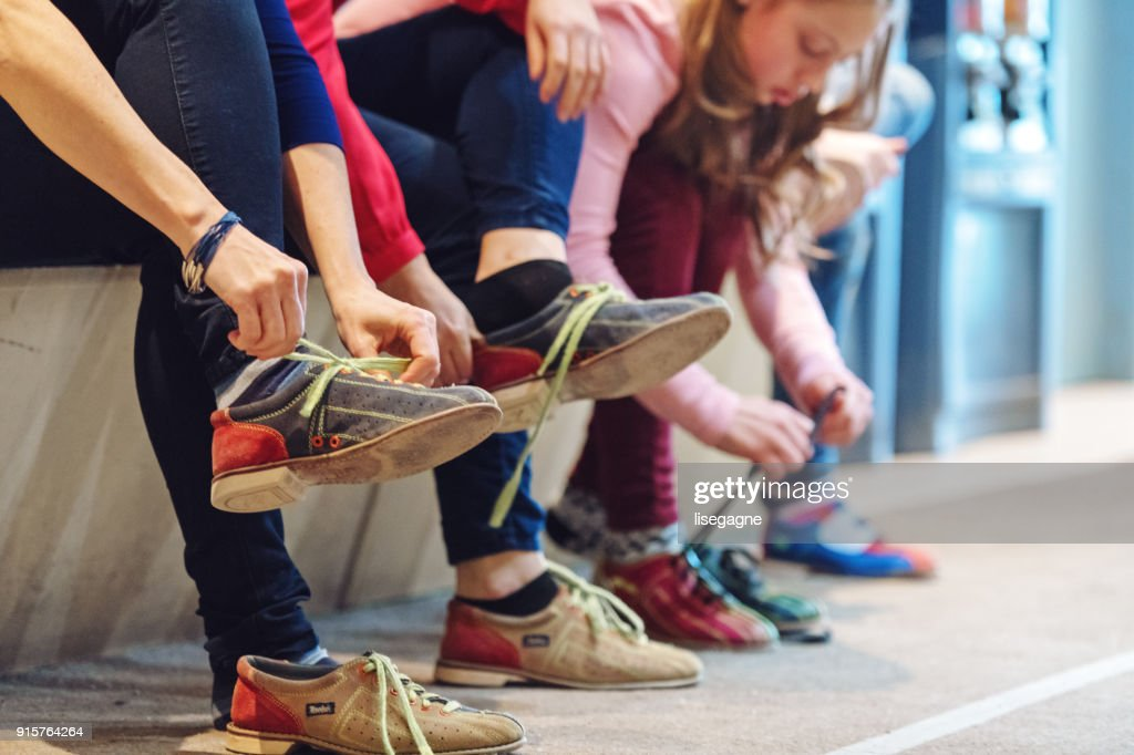 Girls at the bowling : Stock Photo