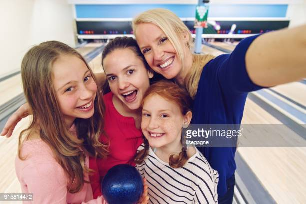 Girls at the bowling