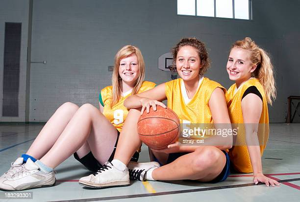 Girls' Basketball: Team Members in the Gym