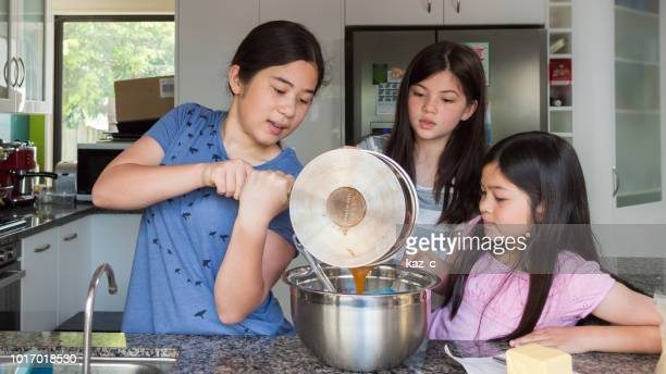 Girls cooking in the kitchen