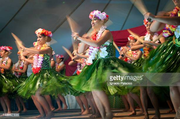 Girls dancing at Heilala festival.