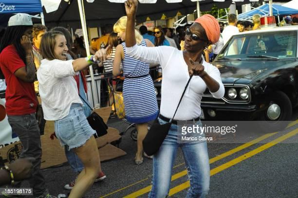 Girls dancing during the H street festival in Washington DC on September 15, 2012.