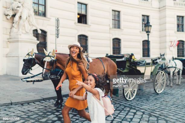 Girls enjoying Vienna