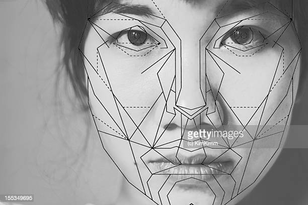 Girl's face with golden ratio