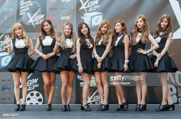 Girls Generation attends KCON 2014 Day 2 at the Los Angeles Memorial Sports Arena on August 10 2014 in Los Angeles California