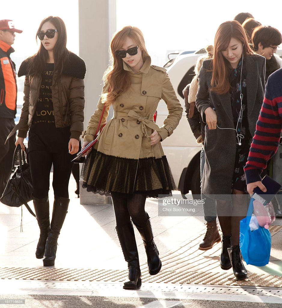 Girls' Generation is seen at Incheon International Airport on December 6, 2012 in Incheon, South Korea.